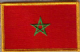 Morocco Embroidered Flag Patch, style 08.